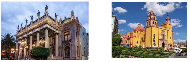 Teatro y catedral Guanajuato